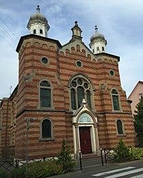 Façade de la synagogue de Saint-Louis.JPG