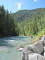 Facing Downstream from the Lussier Hot Springs - panoramio.jpg