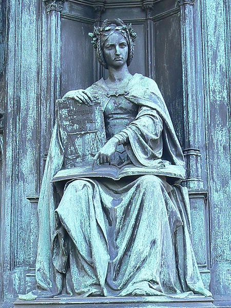 'Personification of the Faculty of Law' from the pedestal of the statue of Emperor Charles IV, Prague, Czech Republic - via Wikimedia Commons