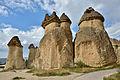 Fairy chimneys in Cappadocia.JPG