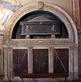 Famiglia del tasso, cappella castellani, tomba di francesco castellani ad arcosolio.JPG