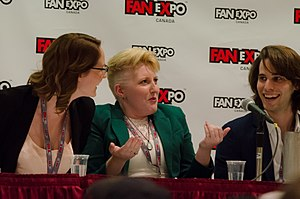 Carmilla (series) - Sharon Belle, Kaitlyn Alexander and Aaron Chartrand at Fan Expo 2015