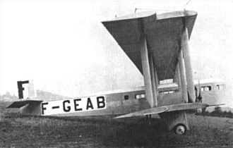 August 1923 Air Union Farman Goliath crash - A Farman Goliath, similar to the accident aircraft.
