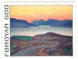 Sámal Joensen-Mikines - Image: Faroe stamp 014 mikines
