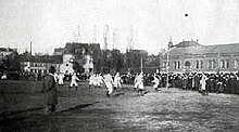 The first game of FC Bayern Munich against 1. FC Nürnberg in 1901
