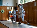 Fencing. Epee. The fencer Aris Koutsouflakis at Athenaikos Fencing Club.jpg