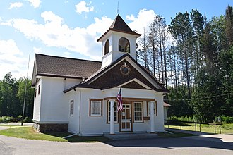 National Register of Historic Places listings in Florence County, Wisconsin - Image: Fern School, Fern, WI