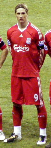 Torres lines up before a Liverpool match in 2010 7c2d751df