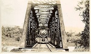 Northern Railroad of Guatemala - Bridge over Motagua River, c. 1940.