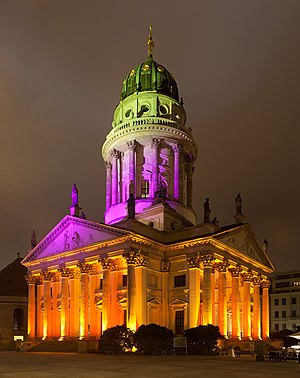 French Cathedral, Berlin - Image: Festival of Lights 2012 Französischer Dom