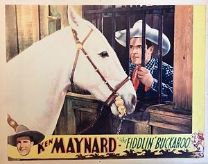 Ken Maynard - Maynard and Tarzan in The Fiddlin' Buckaroo, 1933