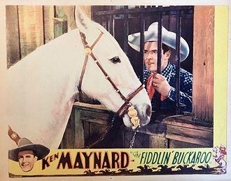 Ken Maynard - Maynard and Tarzan in The Fiddlin' Buckaroo, 1933