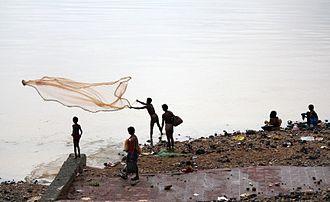 Subarnarekha River - Fishing at Subarnarekha river near Domohani (confluence of Subarnarekha and Kharkhai)