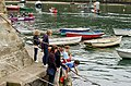 Fishing for crabs, Trinity Quay, Solva - geograph.org.uk - 1531224.jpg