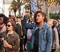 Fists raised at San Francisco July 2016 rally against police violence.jpg