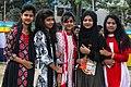Five Bangladeshi girls at Pohela Boishakh celebration 2016 (01).jpg