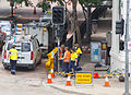 Fixing traffic lights damaged by the 2011 flood.jpg