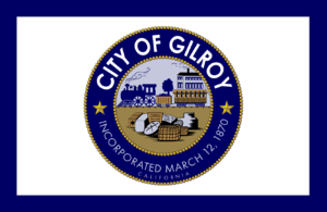 Gilroy, California - Image: Flag of Gilroy, California