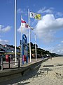 Flags at Sandbanks beach, Poole Head - geograph.org.uk - 29968.jpg