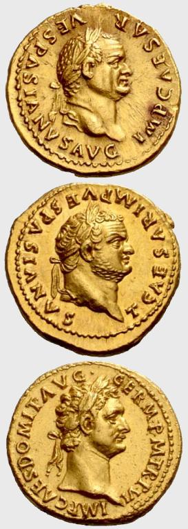Flavian dynasty Aurei