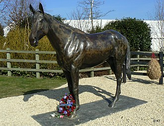 Exeter Racecourse - Best Mate, a triple Cheltenham Gold Cup winner, which died on the course in 2005