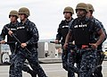 Flickr - Official U.S. Navy Imagery - USS Abraham Lincoln Sailors participate in a training exercise during a mass casualty drill.jpg