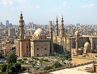 Mosque-Madrassa of Sultan Hassan mosque in Egypt