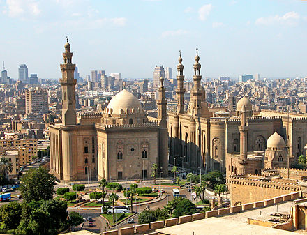 Al Rifa'i Mosque (right) and Mosque-Madrassa of Sultan Hassan (left) Flickr - archer10 (Dennis) - Egypt-13A-061.jpg