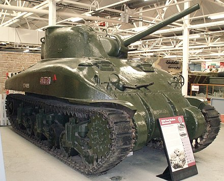 The second production Sherman, Michael, displayed at The Tank Museum, Bovington, England (2010) Flickr - davehighbury - Bovington Tank Museum 276 SHERMAN 2.jpg
