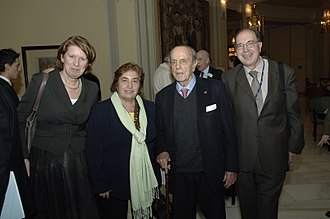 Manuel Fraga - Manuel Fraga (Third from left) on a convention on climate change of the European People's Party in Madrid (2008).