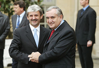 Jean-Pierre Raffarin - Prime Minister Raffarin and Mikuláš Dzurinda in Paris, December 2003