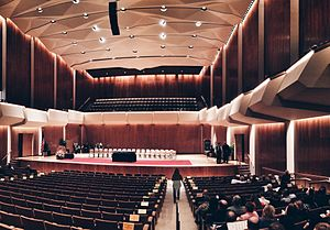 Krannert Center for the Performing Arts - An interior view of Foellinger Great Hall