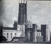 Fonthill Abbey designed for William Beckford by the architect James Wyatt