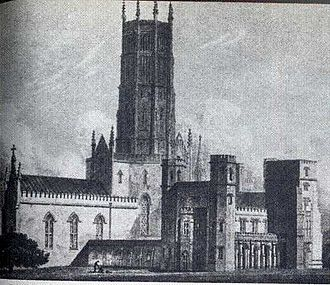 James Wyatt - Fonthill Abbey, built 1795–1807 by James Wyatt for William Beckford, the author of the gothic fantasy novel 'Vathek'.