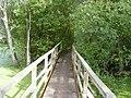 Footbridge across flooded gravel pits - geograph.org.uk - 1464350.jpg