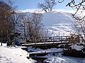 Footbridge over Ash Gill in winter - geograph.org.uk - 1160982.jpg