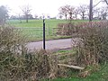 Footpath crosses Coldbridge Lane - geograph.org.uk - 1207088.jpg
