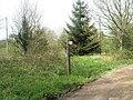 Footpath junction at Tyeland Farm - geograph.org.uk - 778522.jpg