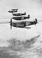 Formation of No.19 Squadron RAF Supermarine Spitfire Mk.Is in 1938 over Cambridgeshire.jpg