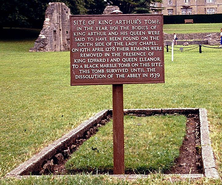 File:Former Gravesite King Arthur (GlastonburyAbbey).jpg
