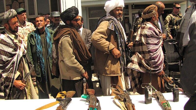 File:Former Taliban fighters return arms.jpg