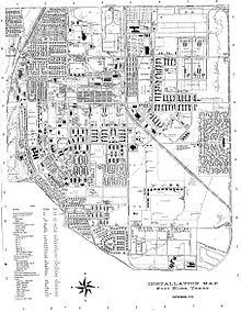 Fort Bliss Facility Map Of Main Area In 1974