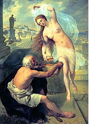 Alexey Tarasovich Markov - Fortune and the Beggar (1836)