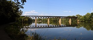 The fox river near south elgin illinois