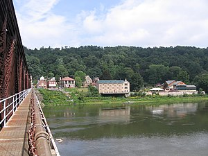 Foxburg, Pennsylvania - Foxburg seen from the old Foxburg Bridge in August 2007