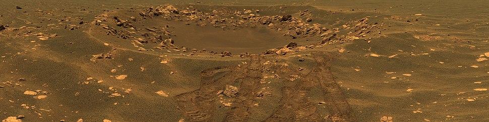 Panorama of Fram crater (Sol 88, April 23, 2004)