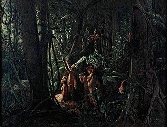 François-Auguste Biard - Image: François Auguste Biard Amazonian Indians Worshiping the Sun God Google Art Project