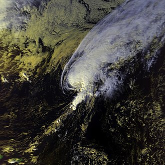 1986 Atlantic hurricane season - Image: Frances 20 nov 1986 1818Z