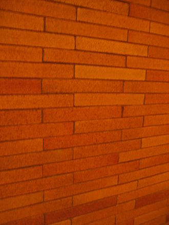 Roman brick - Modern Roman brick in Frank Lloyd Wright's 1905 Frank L. Smith Bank