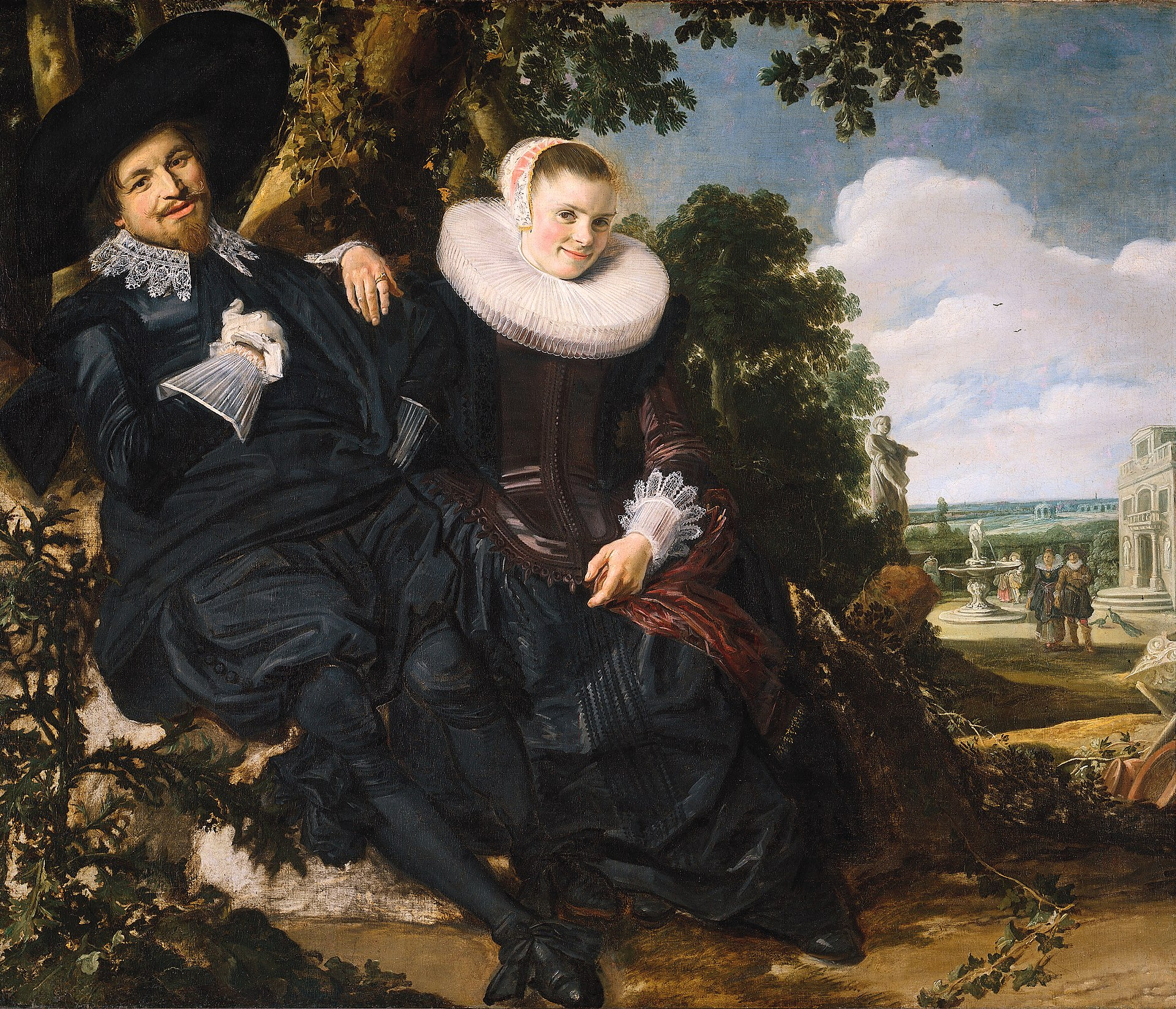 Marriage Portrait Of Isaac Massa And Beatrix Van Der Laen